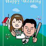 野球好きの友人へ結婚式ウェルカムボードをプレゼント!