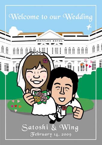 結婚式ウェルカムボード!シンガポールで挙式!