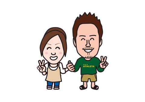 結婚式ウェルカムカードの挿絵似顔絵を制作!