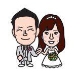 結婚式ウェルカムボードの挿絵イラストを制作