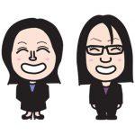 税理士事務所のスタッフの似顔絵名刺を描く