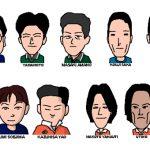 関西大学サッカーサークルTSCのチームメイトの似顔絵