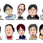 関西大学の同級生の似顔絵イラスト