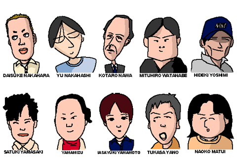 関西大学の同級生の似顔絵