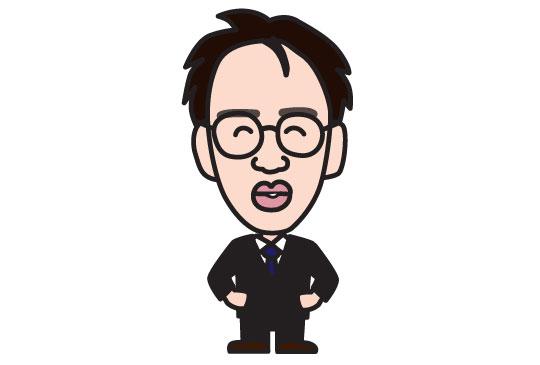 税理士事務所スタッフの似顔絵名刺2
