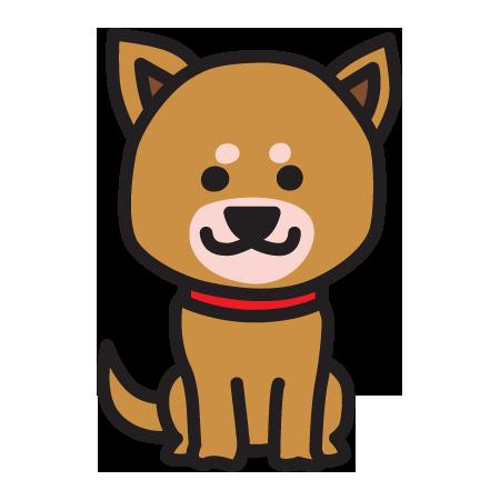 おすわりする柴犬のイラスト